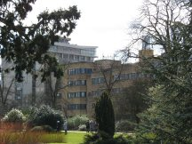 Thom, Holder and Engineering & Technology Buildings from the University Parks